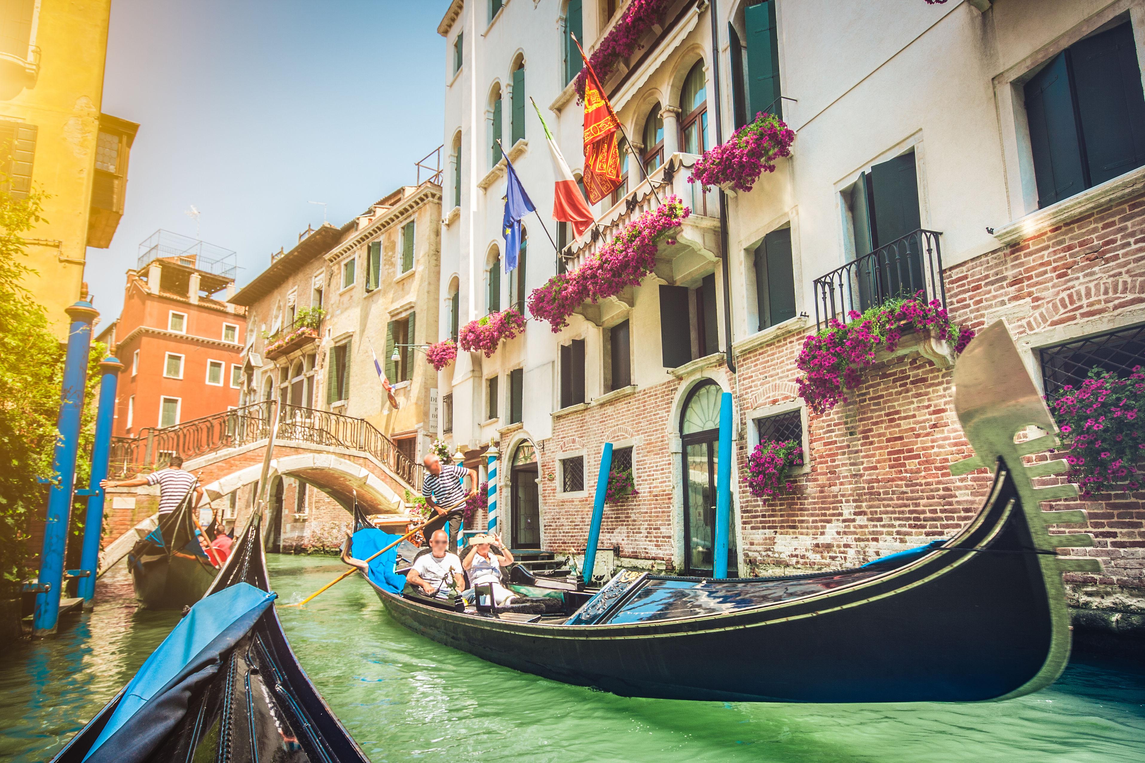 Gondolas of Italy