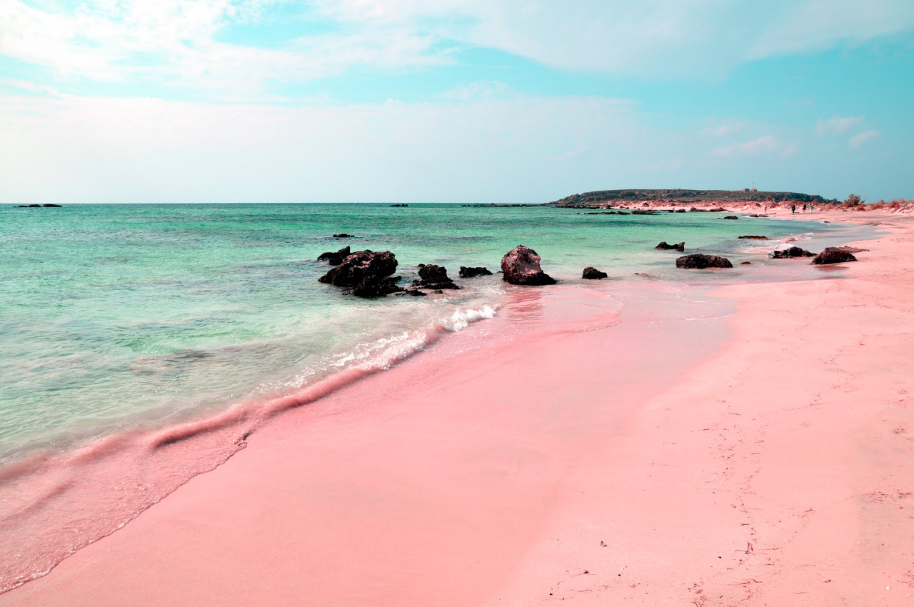 Pink Beach of Italy