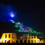 christmas tree of Gubbio city in Umbria