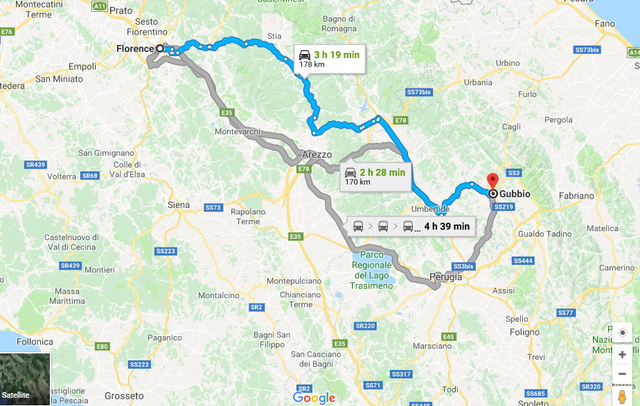Florence to Gubbio