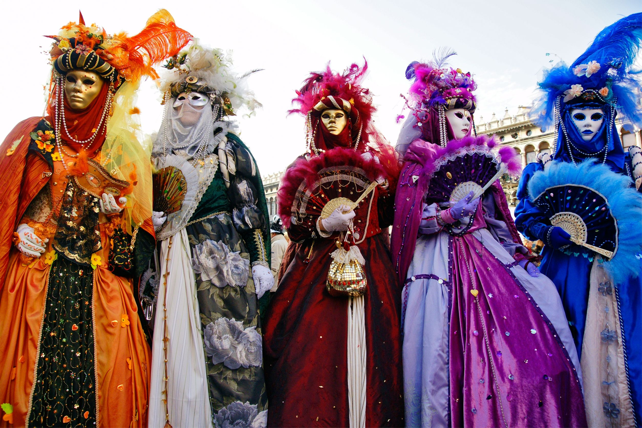 9075816 - group of masks in venice, italy.