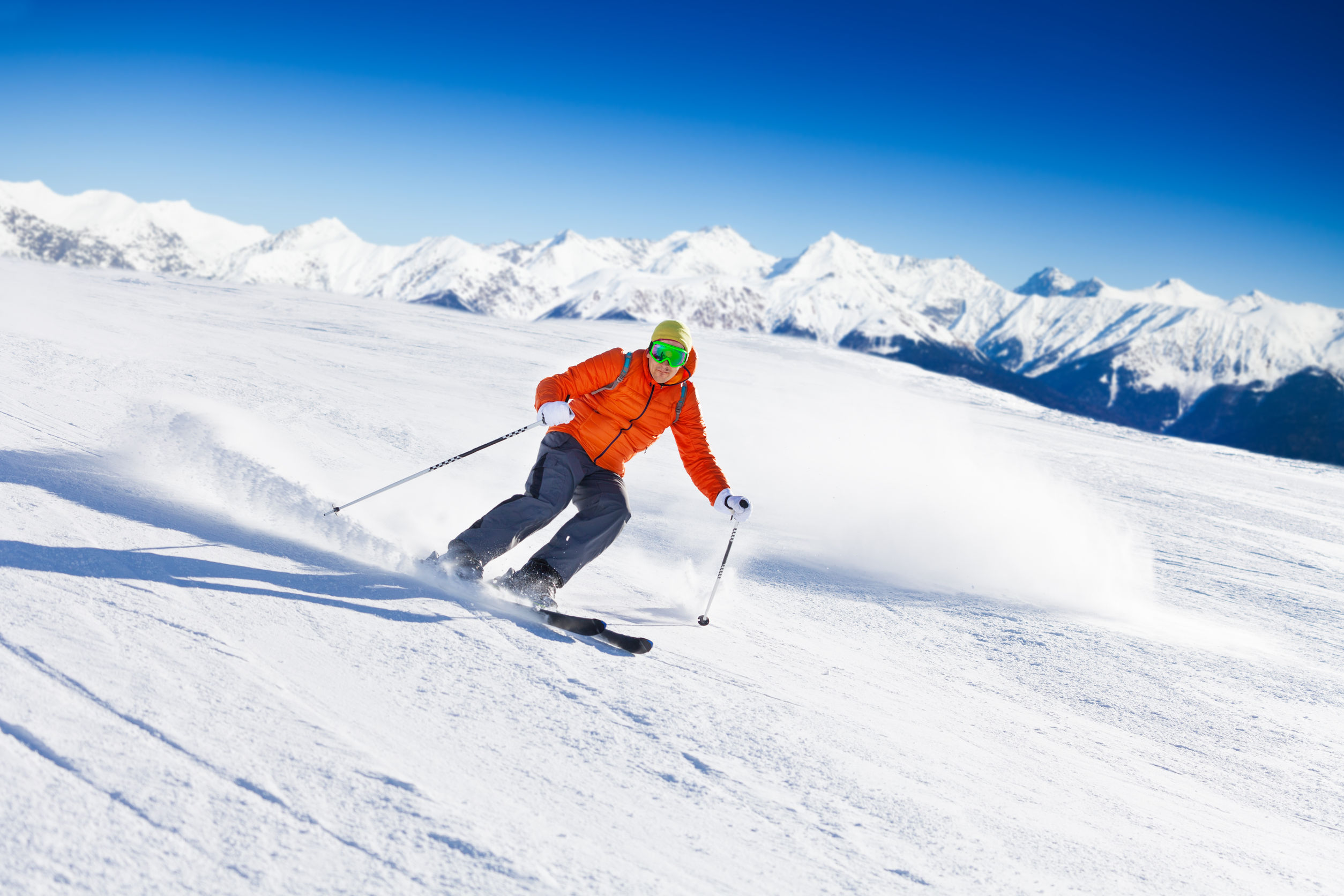 Go skiing in the Alps