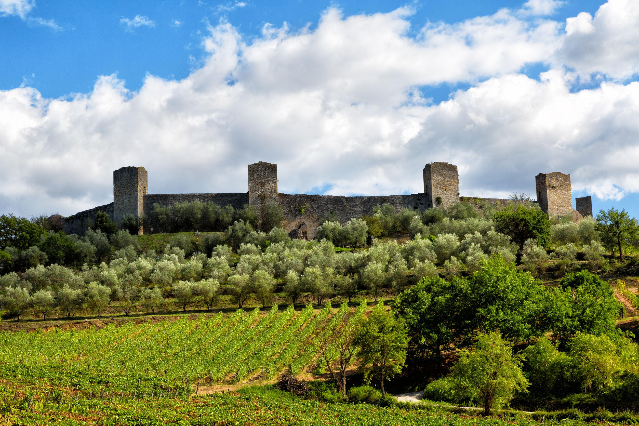 Monteriggioni Castle, Tuscany in Italy