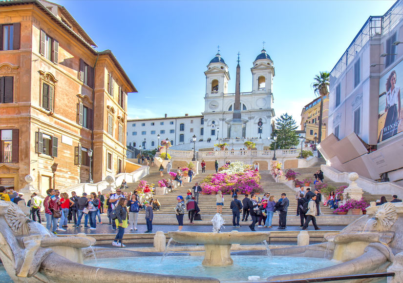 "Rendezvous at the Famous ""Spanish Steps"": Just 135 Steps to Go!"