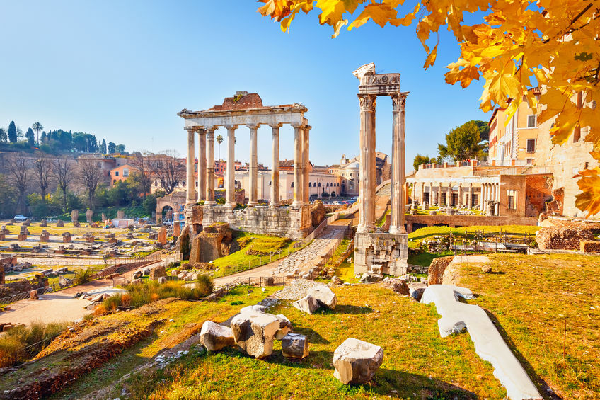Ruins of the Ancient Roman Temples