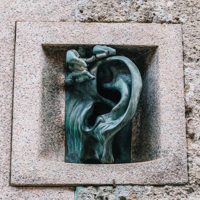 The bronze ear in milan