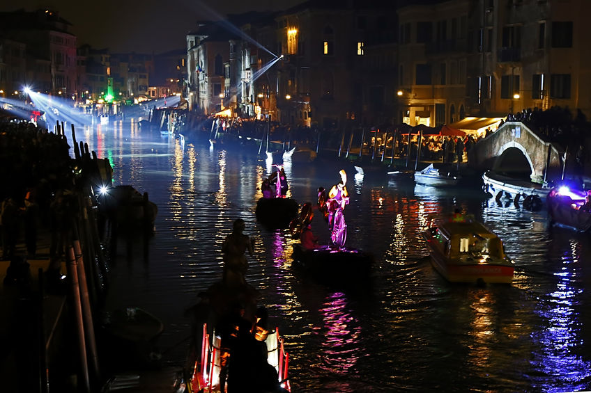 Grand Canal in Venice Carnival