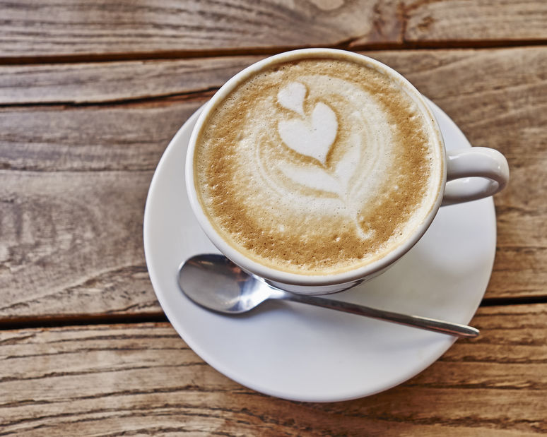 Cappuccino or caffe latte