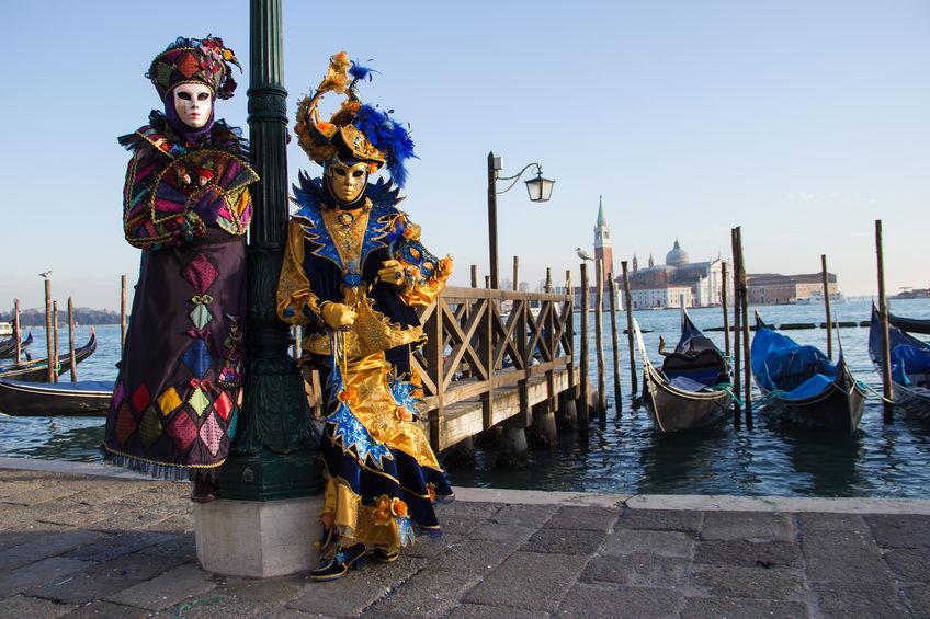 Venetian Costumes in Venice Carnival