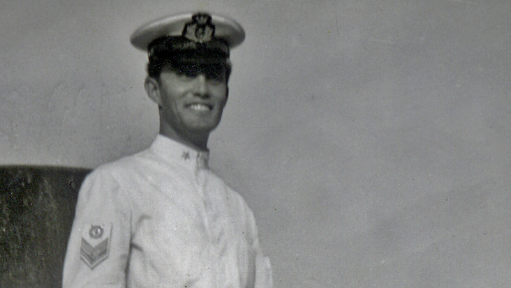 Umberto in his white uniform