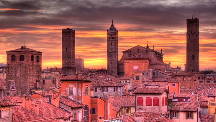 Bologna at dusk