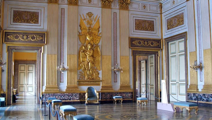 The Throne room of the Royal Palace of Caserta