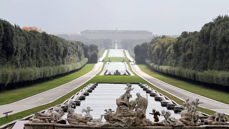 A perspective of the Royal Palace of Caserta