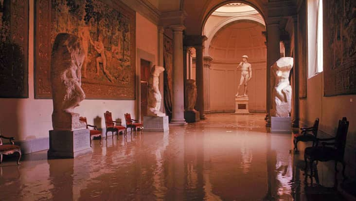 Inside the Accademia in Florence