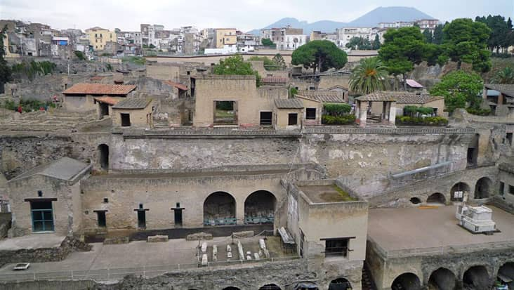A view of the ruins of Herculaneum