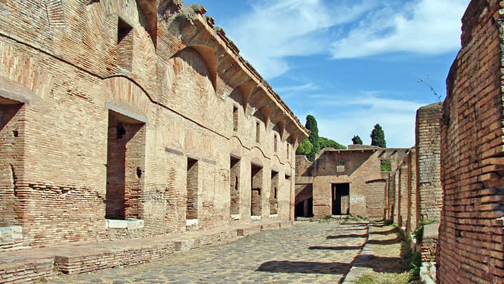 The house of Diana in Ostia Antica