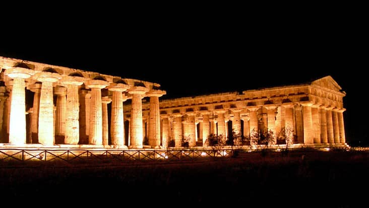 Paestum by Night