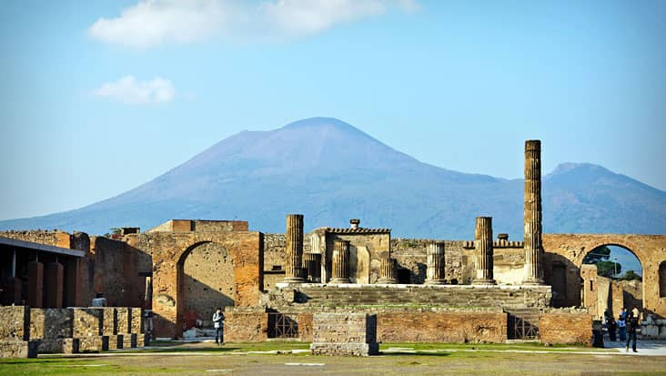 A view of Pompeii