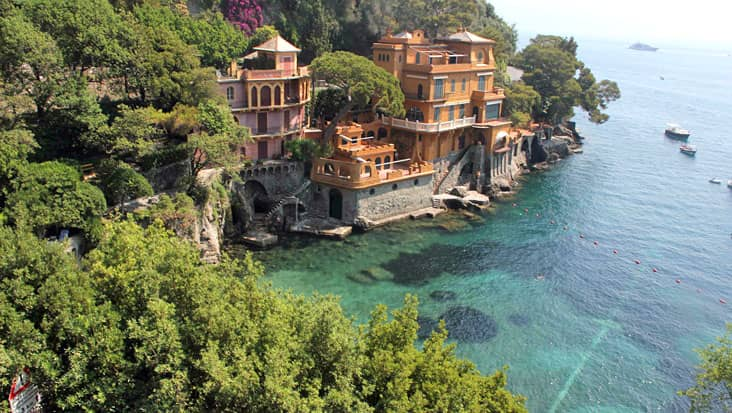 Along the shore of Portofino