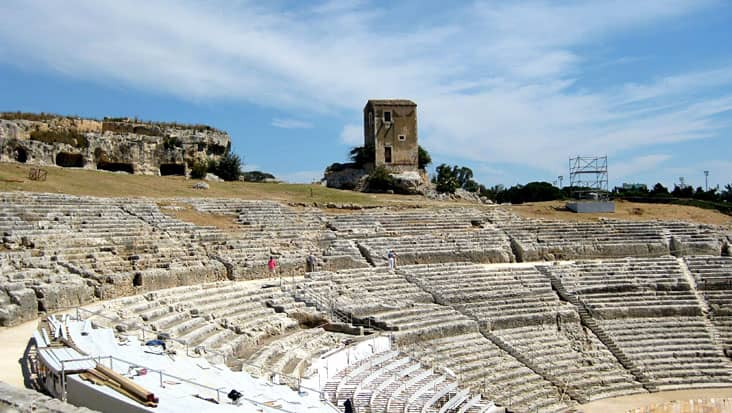 The Greek Theater in Siracusa