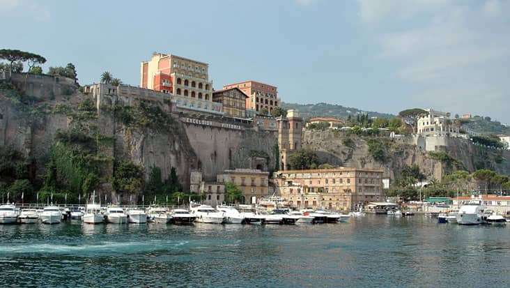 Sorrento from the sea