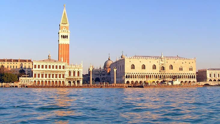 A view of the city of Venice