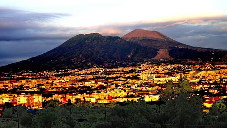 Mt. Vesuvius from a far